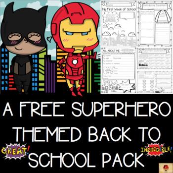 Superhero Theme All About Me Free Set