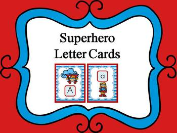 Superhero Alphabet Cards and Charts (D'Nealian and Zaner-B