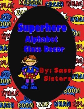 Superhero Alphabet Class Decor