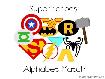 Superhero Alphabet Match