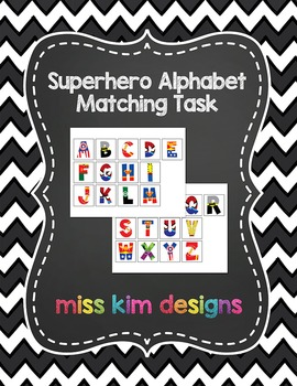 Superhero Alphabet Matching Folder Game for Early Childhoo