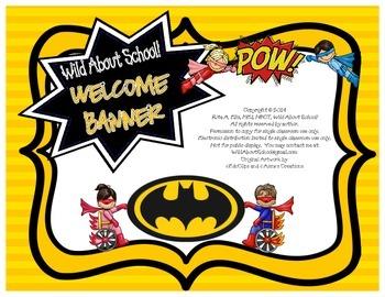 Superheroes Batman Welcome Banner