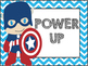Superhero Behavior Chart (chevron)