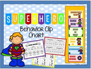 Superhero Behavior Clip Chart 2