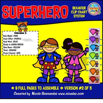 Superhero Behavior Clip Chart System-Role Model (Version 2)
