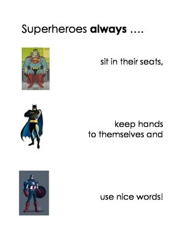 Superhero Behavior Expectation