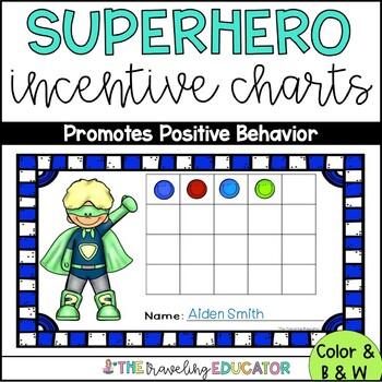 Incentive Charts with a Superhero Theme