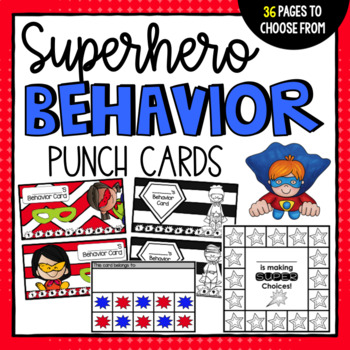 Superhero Behavior Punch Card