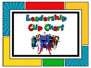 Superhero Behavioral Clip Chart