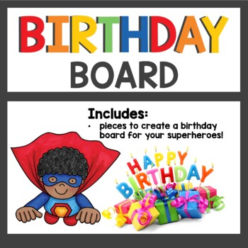 Superhero Class Decor Birthday Board