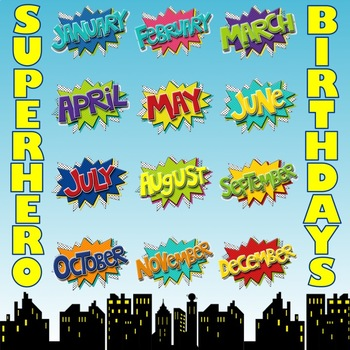 Superhero Birthday Board