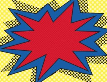 Superhero Burst for Decor or Labels