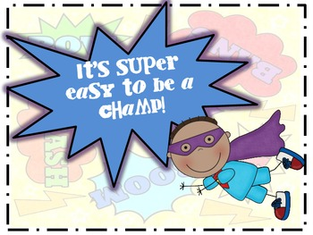 Superhero CHAMPS Display