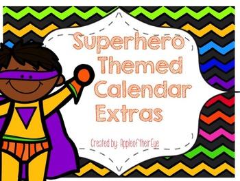 Superhero Calendar Extras Bundle