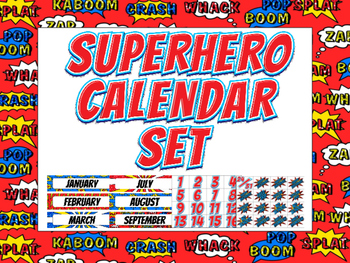 Superhero Calendar Set