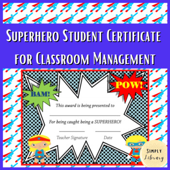 Superhero Certificate