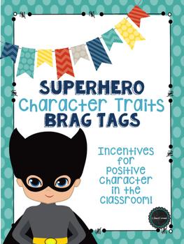 Superhero Character Traits Brag Tags
