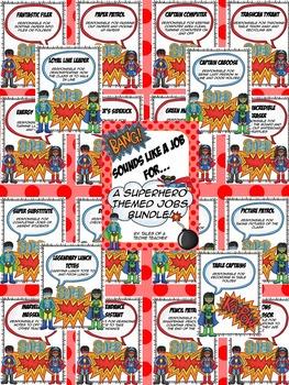 Superhero Class Jobs Bundle {Poster, Banner, & Application}