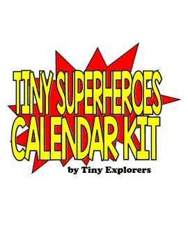 Superhero Classroom Calendar Kit