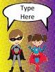 Superhero Classroom Décor   Editable Binder Covers