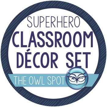 Superhero Classroom Decor Set - over 100 pages!!!