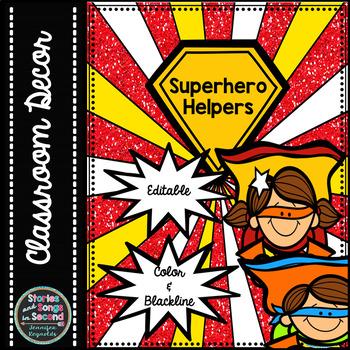 Superhero Classroom Helper Pack