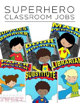 Superhero Classroom Job Chart ***EDITABLE***