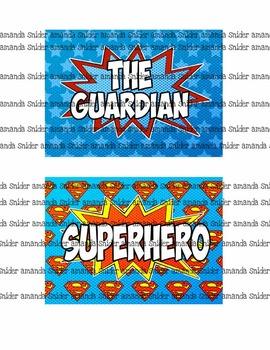 Classroom Theme Superhero Classroom Jobs Set 2