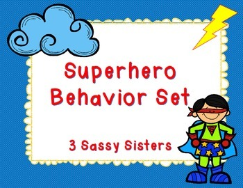 Superhero Classroom Rules & Behavior Clip Chart Set