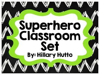Superhero Classroom Set