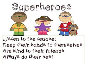 Superhero Classroom Set(Rules, Alphabet Cards, Calendar it