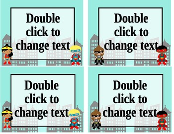 Superhero Classroom Signs and Labels **Editable