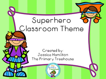 Superhero Classroom Theme Decor - EDITABLE!