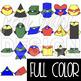 Superhero Clip Art -Superhero 2D & 3D Shapes {BOLD}