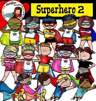 Superhero Clip Art (set2) -Color and B&W-