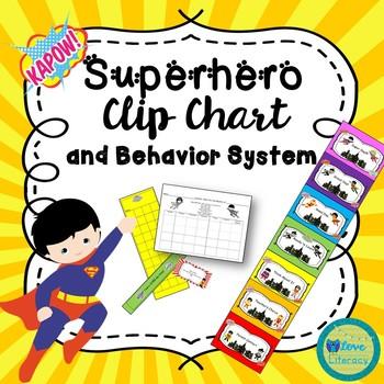 Superhero Clip Chart and Behavior System