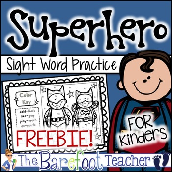 Superhero Color-by-Sight Words FREEBIE