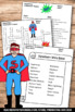 Superhero Theme Crossword Puzzle Early Finishers Homework