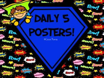 Superhero Daily 5 Posters
