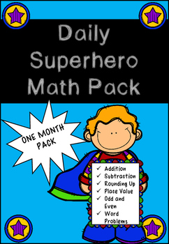 Superhero Daily Math Pack