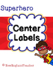 Superhero Decor: Center Number Labels