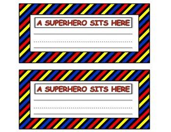 Superhero Desk Plate
