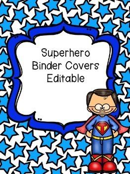 Superhero Editable Binder Covers
