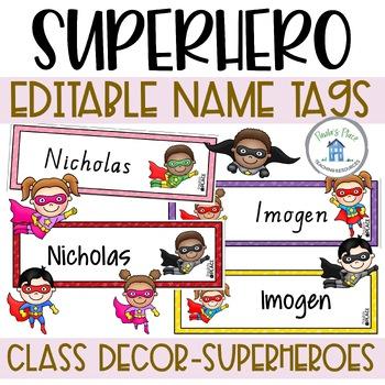 Superhero - Editable Name Tags
