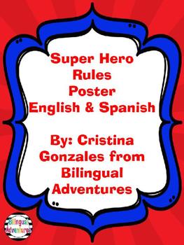 Superhero Editable Rules Post in English and Spanish