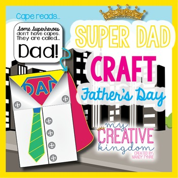 Superhero Father's (Dad) Day Card (Glyph) Craft
