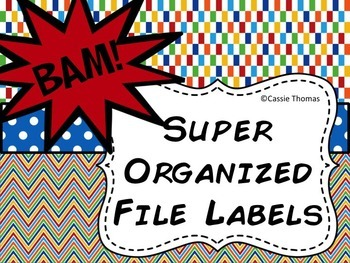 Superhero File Labels {Editable}