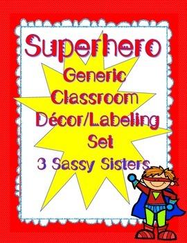 Superhero Generic Classroom Decor/Labeling Set