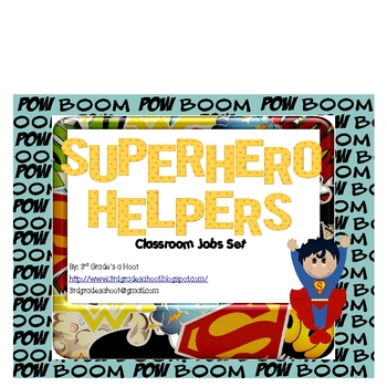Superhero Helpers Classroom Jobs