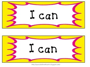 Superhero I Can Statement Cards